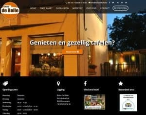 Website Bistro De Bolle